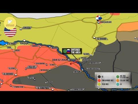 20 октября 2017. Военная обстановка в Сирии. Поддерживаемые США силы передали нефтяное месторождение