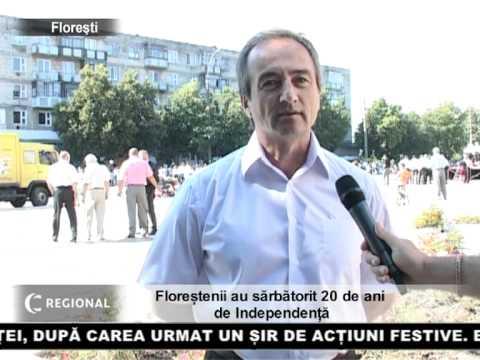 Floreștenii au sărbătorit 20 de ani de Independență