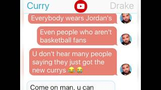 Steph Curry Texting Drake about OVO 12s