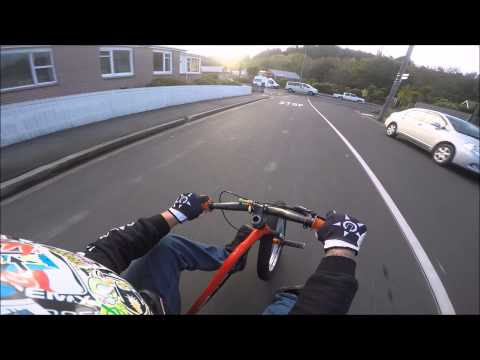 Trike drifting - down the steepest street in the world!
