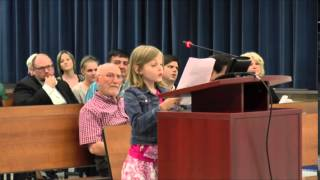 4th Grader Delivers Emphatic Speech to School Board