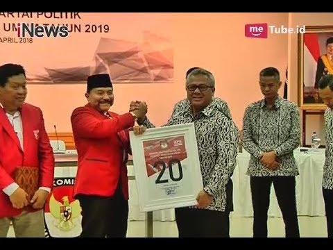 Resmi Jadi Parpol Peserta Pemilu 2019, PKPI Dapat Nomor Urut 20 - iNews Sore 13/04