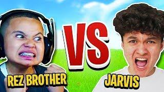 MindofRez's Little Brother Vs My Little Brother Jarvis (Fortnite 1v1)