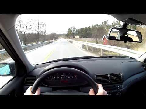 Short drive in my BMW E46 316i, POV