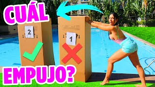 No empujes la CAJA INCORRECTA a la piscina - LANZAMOS UN IPHONE XS 😱| Mariale