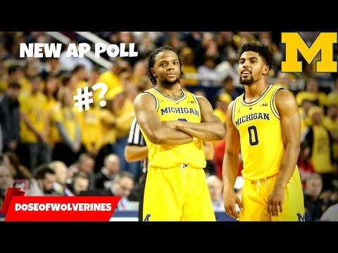 NCAA Basketball AP Poll Is HERE! 3 BIG Ten Teams In Top 10! Michigan Basketball Talk