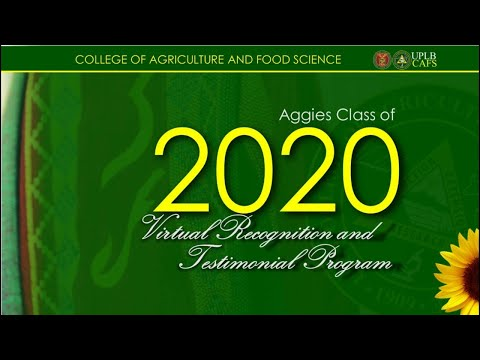 2020 CAFS Recognition and Testimonial