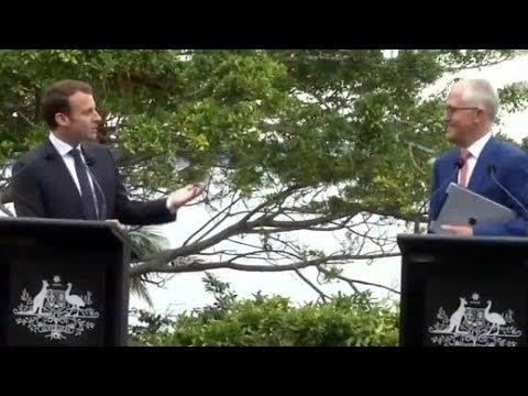 Macron nennt Frau des australischen Premiers