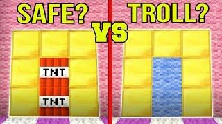 Minecraft: SPOT THE TROLL!!! - FAKE DOORS & BLOCKS!