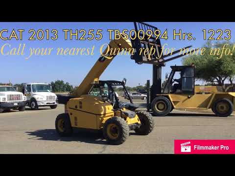CATERPILLAR TELEHANDLER TH255 equipment video ogVuBD7PeZQ