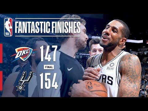 Video: Thunder and Spurs EPIC Double-Overtime Thriller | January 10, 2019