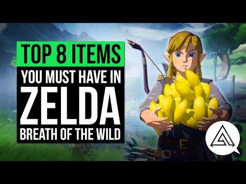 Top 8 Items You Must Have in Zelda Breath of the Wild w/ Nintendo Life (видео)