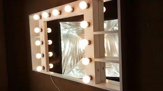 Badspiegel mit 13 Lampen