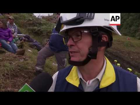 Dramatic scenes from Colombia plane crash site