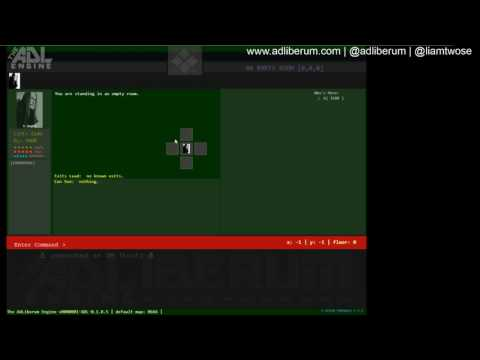 ADLEngine - Map Editor - Creating Rooms and Exits ~ Multiplayer Text Adventure Engine