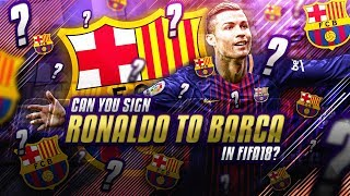 Video Is it possible to sign Cristiano Ronaldo for Barcelona in FIFA 18 Career Mode? MP3, 3GP, MP4, WEBM, AVI, FLV Oktober 2018