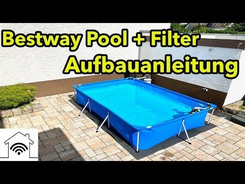 Aufbau Anleitung Bestway Pool 300 x 200 cm und Anschluss Sandfilteranlage