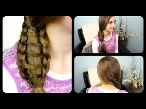 Ladder Braid Side Ponytail | Cute Girls Hairstyles
