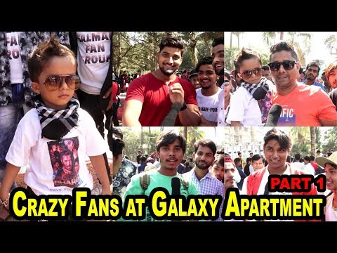 Crazy Fans at Galaxy Apartment Bandra  for Salman's Birthday Celebration Part 1