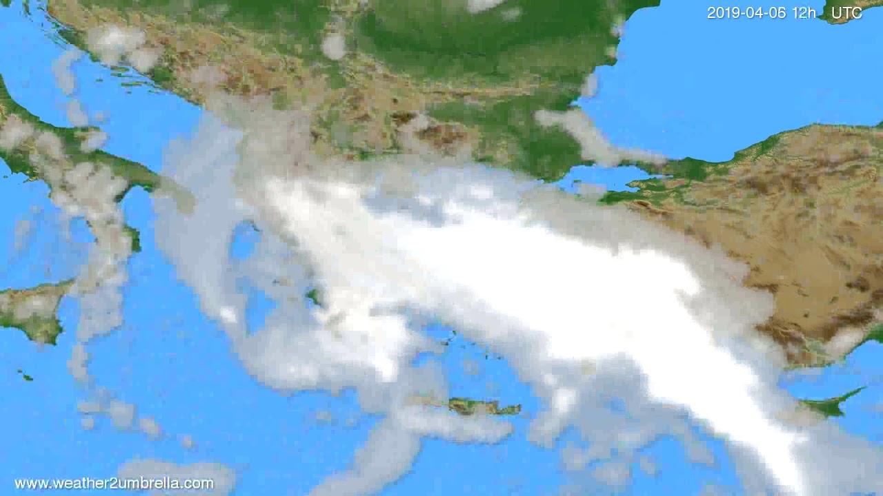 Cloud forecast Greece // modelrun: 00h UTC 2019-04-05
