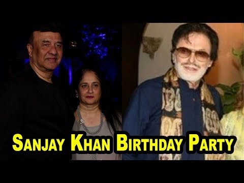 Anu Malik With His Wife At Sanjay Khan Birthday Party