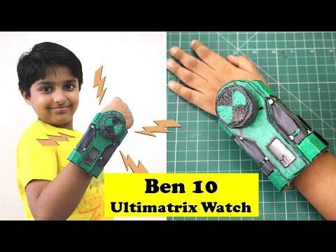 I Made Ben 10 Ultimatrix Alien Interface Watch   Cardboard DIY   Sparsh transforms into DiamondHead