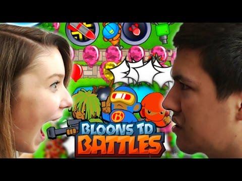 Bloons TD Battles! - BATTLE OF THE SEXES! - Bloons TD Online Vs Girlfriend!