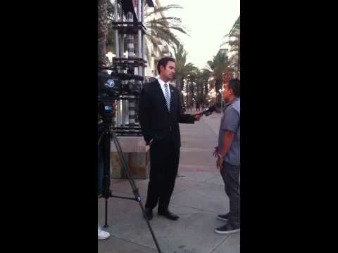 Joey interviewed by ABC 7 news