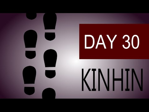 Zen Meditation Zazen and Kinhin Walking Meditation – Day 30