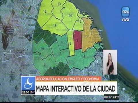 El noticiero de América 24 mostró el Mapa Interactivo del CESBA