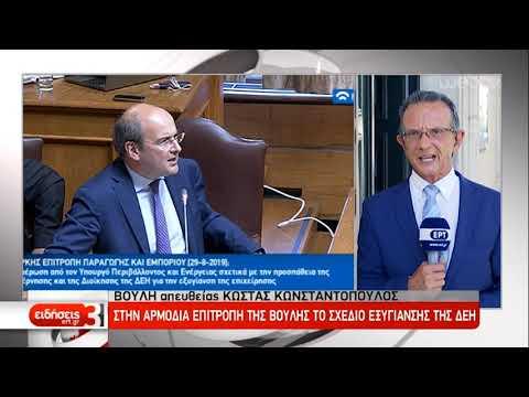 Στην αρμόδια Επιτροπή της Βουλής το σχέδιο εξυγίανσης της ΔΕΗ | 29/08/2019 | ΕΡΤ