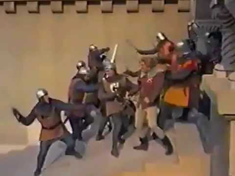 Sir Myles Falworth's trial by combat with the Earl of Alban
