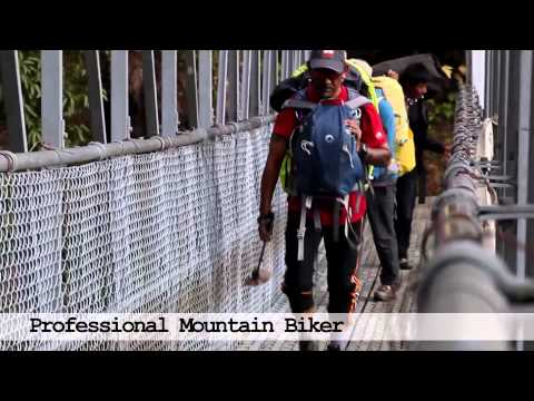 Yak Ru extreme mountain biking race in Nepal
