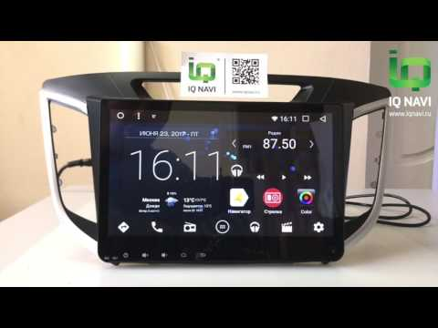 Обзор магнитолы сверху Андроиде IQ NAVI T44-1616C Hyundai Creta (2016+)