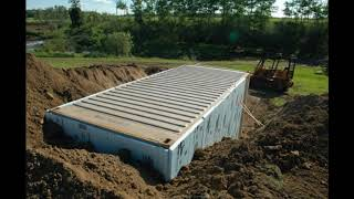 ADVICE FOR PREPPERS BURYING SHIPPING CONTAINERS