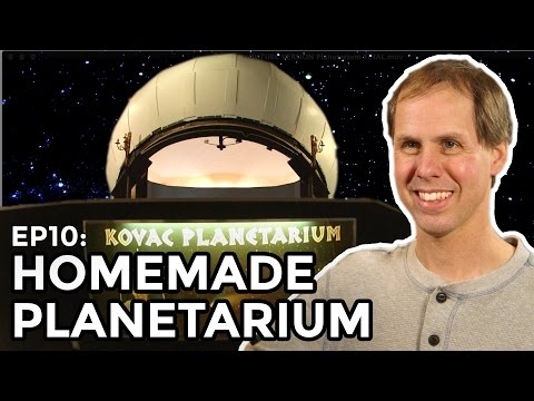 Guy builds a Planetarium in his backyard