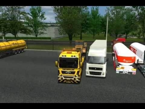 Euro Truck Simulator MAN TGX 8X4 + Wheel Loader + USSR Pt1