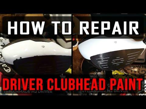 DIY - How To Repair Golf Driver Club Head Paint!