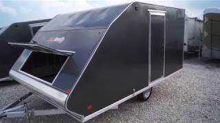 4. 2018 SNOPRO 101x12 Hybrid Aluminum Enclosed 2 Place Snowmobile Trailer with Extreme Weather Package