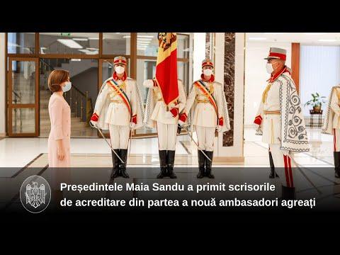 Nouă ambasadori agreați în Republica Moldova și-au prezentat scrisorile de acreditare