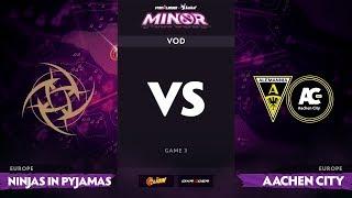 [RU] Ninjas in Pyjamas vs Aachen City Esports, Game 3, StarLadder ImbaTV Minor S2 EU Qualifiers