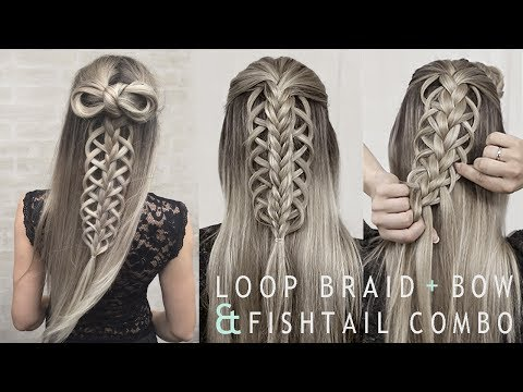 Loop Braid + Bow and Fishtail Combination | DIY Part 2 (видео)