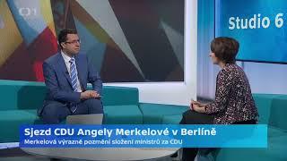 Sjezd CDU Angely Merkelové v Berlíně