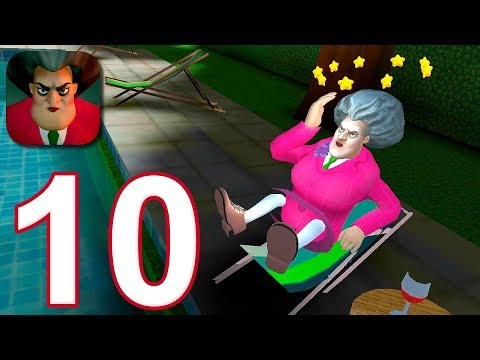 Scary Teacher 3D - Gameplay Walkthrough Part 10 - Sun Bath Disaster