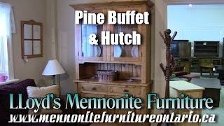 Mennonite Pine Buffet and Hutch