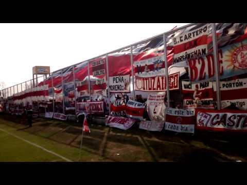 Fiesta en la tribuna Dep Moron vs Platense - gol - Los Borrachos de Morón - Deportivo Morón