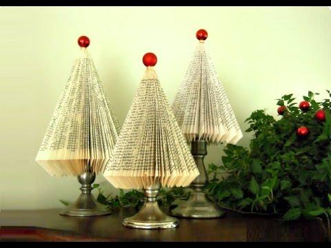 Albero di Natale con un libro, idee per Natale