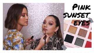 Download Video PALETTE LOKAL DAHSYAT!!! PINK SUNSET EYES TUTORIAL FT. SAIRA NISAR MP3 3GP MP4