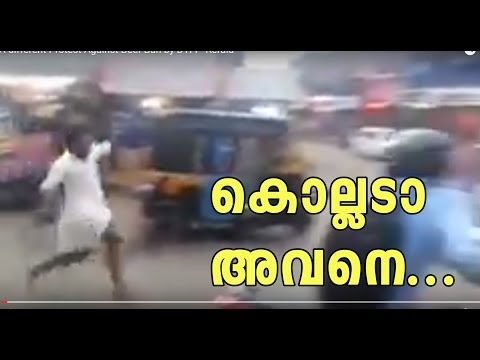 A different Protest Against Beef Ban by DYFI - Kerala