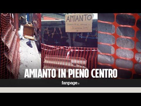napoli: amianto abbandonato in pieno centro da settimane!